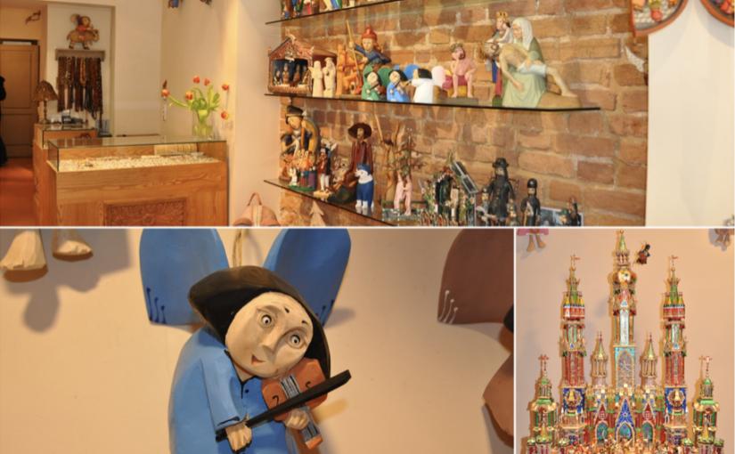 Drewniane ręcznie robione anioły oraz szopki bożonarodzeniowe dobre na upominek
